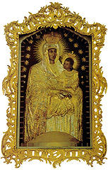 The miraculous painting of Our Lady, sometimes also called the Madonna of Šiluva